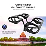Hanbaili Novel TY6 Folding Structure Quadcopter Drone,2 Million Pixels WIFI Camera Real-time Transmission,One Key Take Off Drone with Headless Mode for Adults