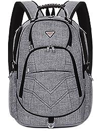 Laptop Backpack 18.4 Inch,SOCKO Nylon Water-Resistant Durable Travel Bag Hiking Knapsack Rucksack Backpack School...