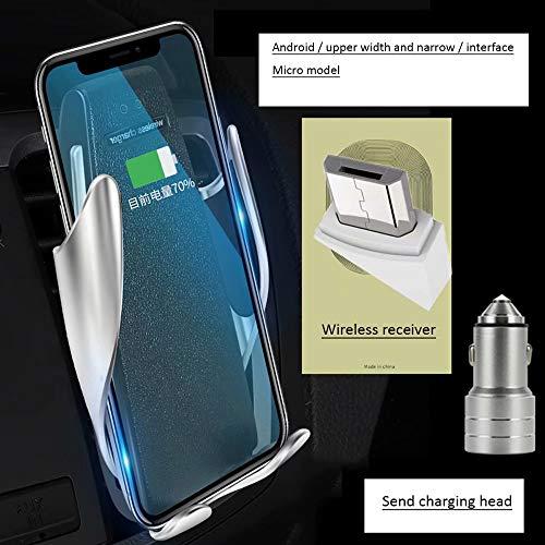 DFGB-CZSJZ Clip mágico soporte para teléfono para coche cargador inalámbrico para coche cargador de coche de navegación por inducción automático inteligente - Inalambrico Cargador De Telefono