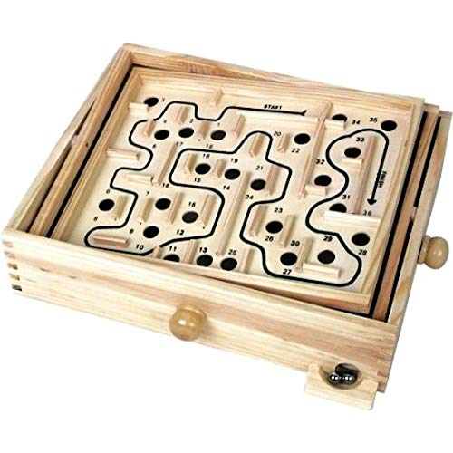 Tobar Wooden Labyrinth Marble Maze Toy