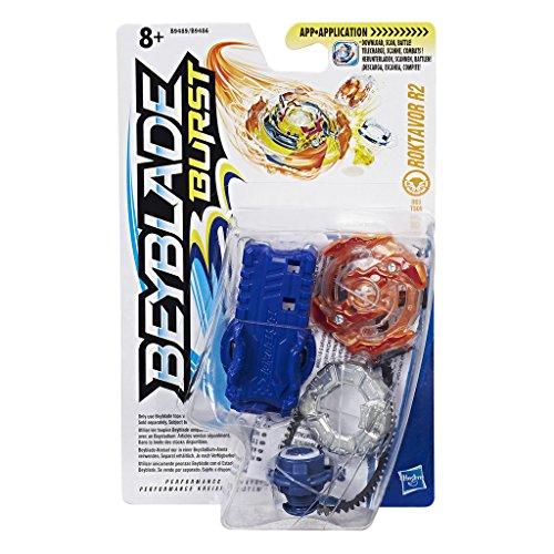 Hasbro Beyblade-B9489ES0 Burst Trottola con Lanciatore Roktavor R2, B9489ES0