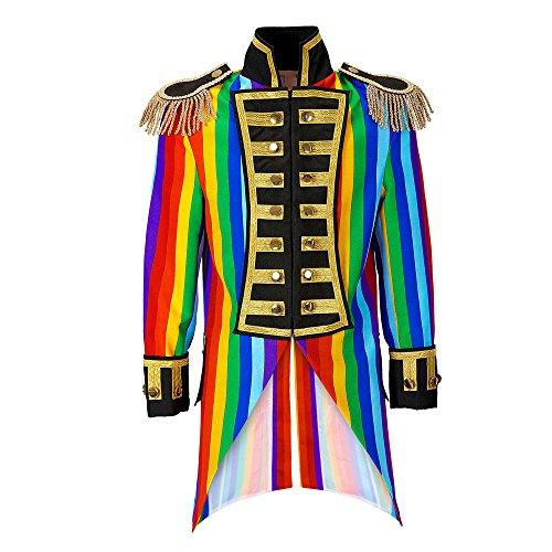 Kostüm Rainbow Damen - Widmann 59251 Damen Frack Rainbow Parade kostüm, S, S