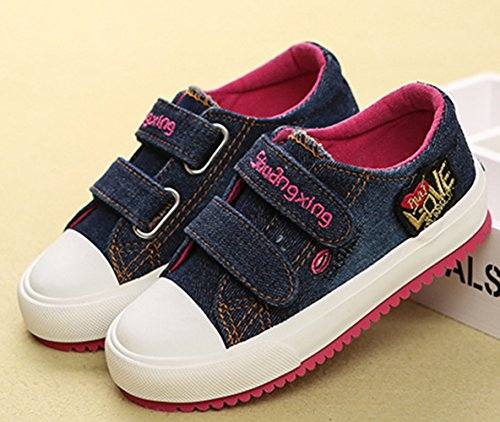 Unisex Kinder Espadrilles Canvas Schnellverschluss Tägliche Frühling Sneakers Dunkelblau