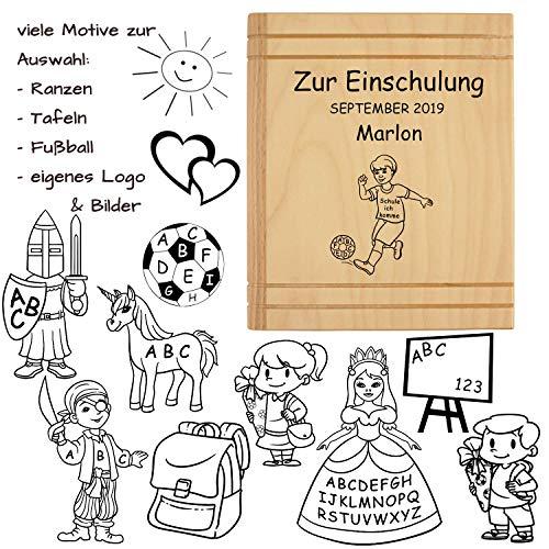lung mit Namen - personalisiertes Geschenk für Jungen und Mädchen zum Schulanfang, Schulbeginn, Schuleingang, Ausstattung für ABC Schützen ()