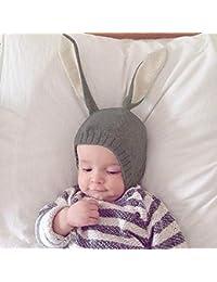 aadf78ddc3a4 Chapeau bebe Garçons Fille de hiver, Mignon Oreilles De Lapin Bonnet Chaud  Chapeaux pour