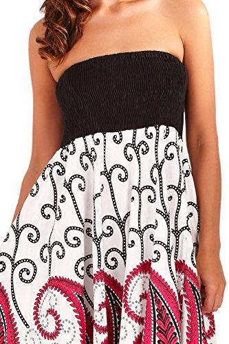 Femmes Pistachio Imprimé Paisley 2 En 1 Robe Coton Femme Long Jupe Motif Rose - Rose