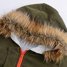 Koly Chaqueta con capucha abrigos de invierno Parka capa de las señoras Top algodón Outwear (Ejercito verde, S)