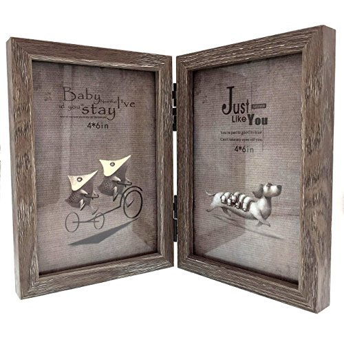 cecii-wood-picture-frame-hinged-double-picture-frame-double-4-by-6-inch-random-selected-color-by-cec