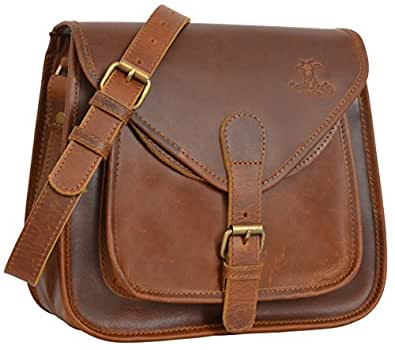"""Gusti Cuir studio """"Lydia"""" besace vintage en cuir sac à main femme sac en bandoulière sac porté épaule cabas sacoche rétro sac en cuir véritable et naturel sac shopping 2H7-17-9"""