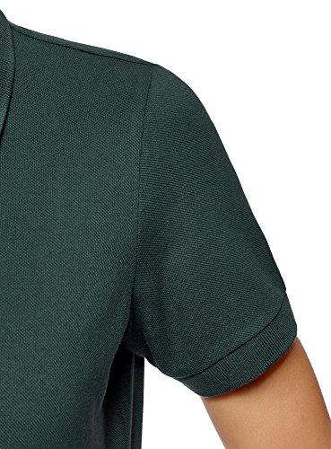 oodji Ultra Donna Polo Basic in Cotone Verde (6C00N)