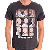 One Punch Man One Punchman Herren Premium T-Shirt - Expressions of Punch (L)