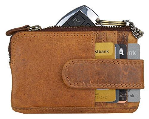 Hill Burry Mini Börse + Schlüsseletui aus echtem geöltem Büffelleder Model: 5143