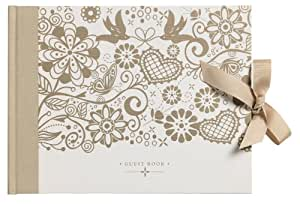Busy B Bride to B Wedding Guest Book - White