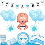 Layal Design Baby Shower Deko Set - Für eine Its a Boy Junge Babyparty (24 Personen)