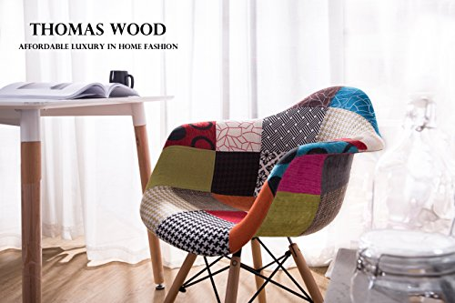 Thomas Wood Fauteuil Patchwork Multicolore