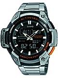 Casio - SGW-450HD-1BER - Standard - Montre Homme - Quartz Analogique - Digital - Cadran Noir - Bracelet Acier Argent