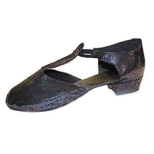 Dance Depot Griechische Sandale Glitter Schwarz Erwachsene UK 6 EU 39