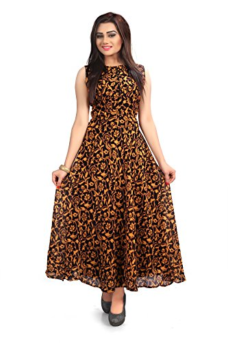 Kesar Collection Women\'s Latest Georgette Western Kurti (Black)