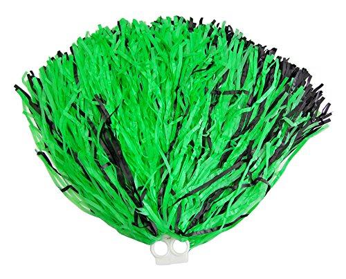 Funny Fashion Cheerleader Pompon mit Ringgriff 1 Stück Grün ()