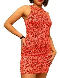 ABILIO - vestito donna tubino nero pizzo abito rosso vestitino pizzo abiti  eleganti 8612eb1bbaf
