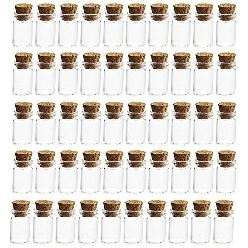 LoKauf 50er 1ml Mini Glasflaschen mit Korken Vakuumierer für Einmachgläser