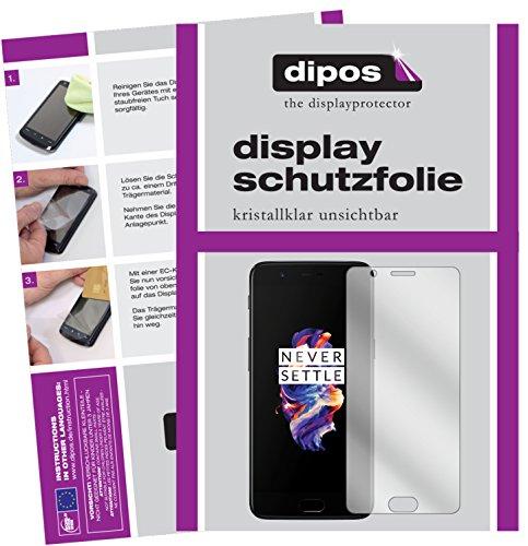 dipos I 2X Schutzfolie klar passend für OnePlus 5 Folie Bildschirmschutzfolie