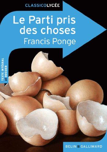 Le Parti pris des choses par Francis Ponge