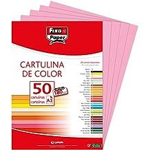 Fixo Paper 11120353 – Paquete de 50 cartulinas – Tamaño A3 cartulina 180g ...