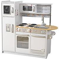 KidKraft Cucina Giocattolo Uptown in Legno-Bianca, Colore, 53364