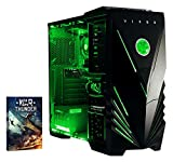 VIBOX Precision 6 - Ordenador para gaming (AMD FX-4300, 8 GB de RAM, 1 TB de disco duro, Nvidia Geforce GT 730) color neón verde
