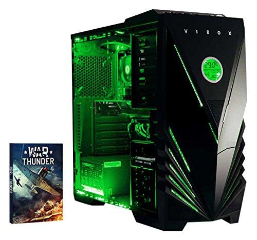 Vibox-Precision-6-Gaming-PC-con-Gioco-War-Thunder-4GHz-AMD-FX-Quad-Core-Processore-nVidia-GeForce-GT-730-Scheda-Grafica-1TB-HDD-8GB-RAM-Case-Predator-Neon-Verde