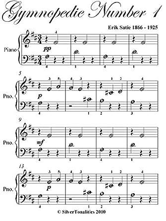 Gymnopedie No 1 Satie Beginner Piano Sheet Music eBook: Erik Satie