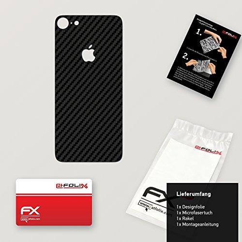 "Skin Apple iPhone 7 ""FX-Velvet-Black"" Designfolie Sticker FX-Carbon-Black"