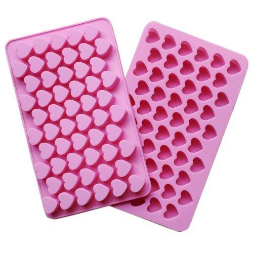 Silizium Schokoladen Formen Pralinenformen Chocolate Mould für Backen Liebhaber, Stern, Herz, Poop Geformt (55 Herz)