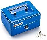 Cassetta per i contanti Brihard BR001-8x15,2x11,8cm (HxWxD), Blu