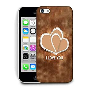 Snoogg Cream Heart Printed Protective Phone Back Case Cover For Apple Iphone 6 / 6S