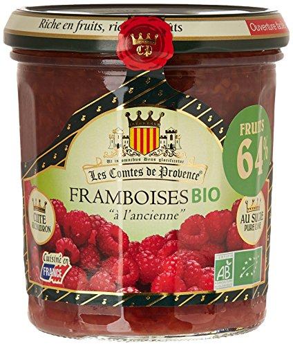 Les Comtes de Provence Confiture de Framboises Bio A L'Ancienne Le Bocal de 350 g - Lot de 3