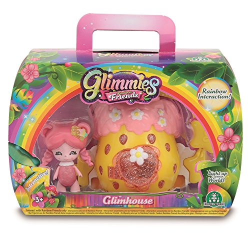Glimmies - Casita con Figura Orsadora, Serie 2 (Giochi Preziosi GLN04000)