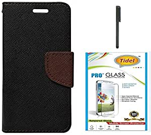 Tidel Premium Table Talk Fancy Diary Wallet Flip Cover Case for Letv Le 1S With Tidel 2.5D Curved Tempered Glass & Stylus