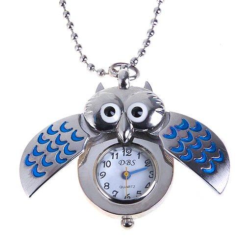 ette Uhr Taschenuhr Silber Blau ()