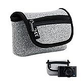 JJC Neopren Kameratasche für Sony RX100 III IV V VA VI HX99 HX95 HX90 HX60V HX60 / Olympus TG-6 TG-5 / Panasonic Lumix DMC TZ81 TZ71 Canon G9X Mark II G7X Mark II SX620 SX720 SX730 SX740 Ricoh GR III