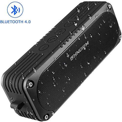 Wasserdicht 20W Laut Bluetooth Lautsprecher, Dual Bass Stereo Sound Treiber Lautsprecher, 4400mAh USB Akku, integriertes Mikrofon für Freisprecheinrichtung, 3,5mm AUX Eingang Port unterstützt (Bluetooth Dusche Lautsprecher Stereo)