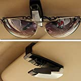 Misss Beauty Car Sunglasses Holder Sun Visor Clip for Eyeglasses &Amp; Ticket Card Fastener Clamp Car Glasses Case Accessories Color Random : White