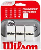 WILSON Pro Overgrip Perforado de Tenis White (Pack de 3)