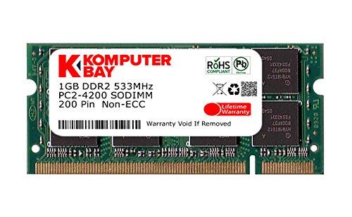 Komputerbay 1GB DDR2 533MHz PC2-4200 PC2-4300 DDR2 533 (200 PIN) di memoria SODIMM computer portatile