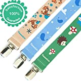 Pacifier Clip 3 Pack - Universal - For Baby & Infant - For Soother and Teether