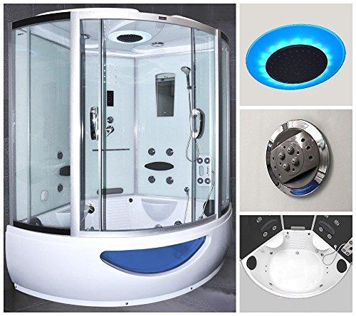 Home Deluxe Exclusive Duschtempel, inkl. Whirlpool und Dampfsauna (weiß)