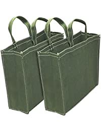 2 Pack Heavy Duty Milk Bag/grocery Bag/vegetable Bag/shopping Bag With Reinforced Handles - 11x3.75x14 Inch