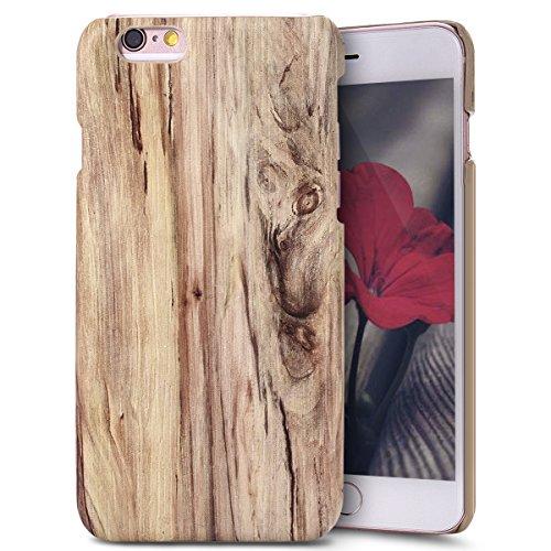 Custodia Cover per iPhone 6/6S plus, iPhone 6/6S plus Case Cover Morbido con Impressionante texture di superficie legno design, Ukayfe Silicone TPU Flessibile Custodia Backcover Case Cover per iPhone  Olmo