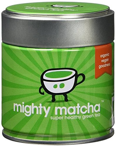 Mighty Matcha Organic Ceremonial Grade Matcha Green Tea Powder | Great Taste Winner 2012 | Single Source First Harvest | Certified GB-ORG-05 EU Organic | Energy Boost, Detox, Weight Loss |